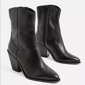 Urban Outfitters Paneled Leather Western Boot